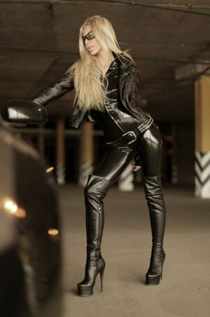 sexy girl in leather